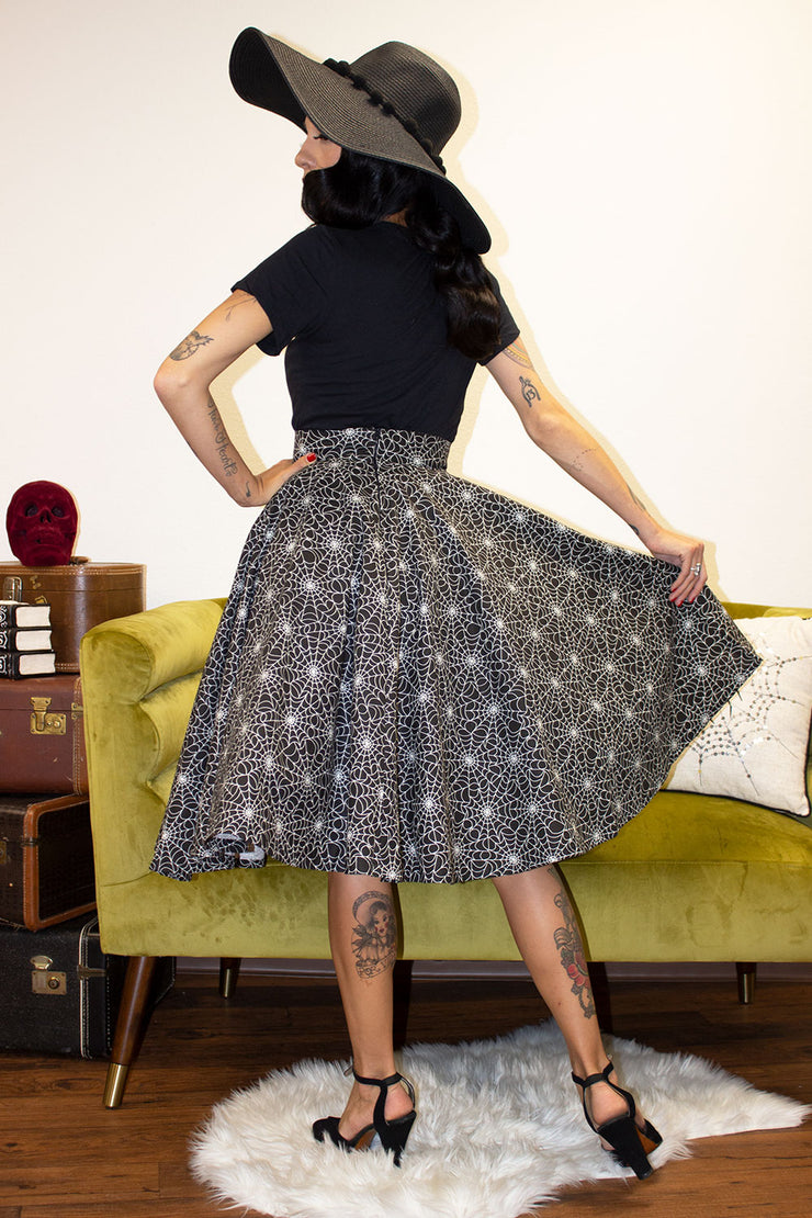 Web of Lies Glow in the Dark Circle Skirt by The Oblong Box Shop (1722582433847)