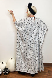 Arachnophobia Caftan - Black and White