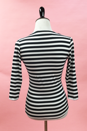 Black and White Stripe Raquel Top