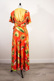 Tahitian Sunset Veronica Hooded Wrap Dress