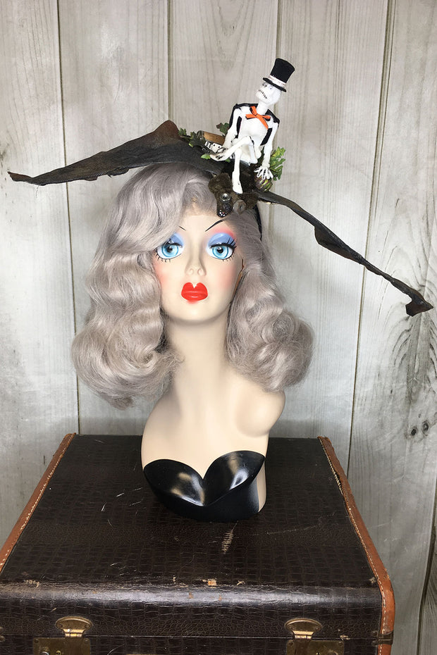 """Teller of Tales"" Bat & Skeleton Headband"