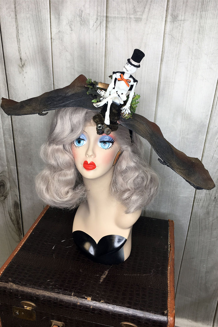"""Teller of Tales"" Bat & Skeleton Headband (1406527864887)"