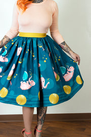 Tipsy Elephant Novelty Print Gathered Skirt - PRE-ORDER