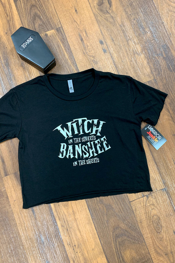 Witch In The Streets, Banshee In The Sheets Crop Top by Horror Junkie (1711960653879)