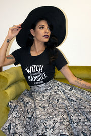 Witch In The Streets, Banshee In The Sheets Fitted Ladies T by Horror Junkie (1711959605303)
