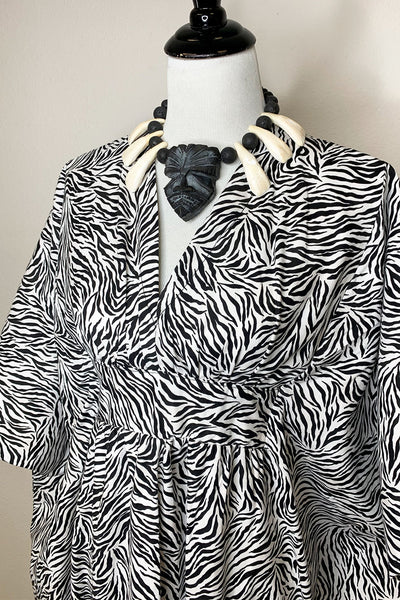Zebra Caftan - Cotton