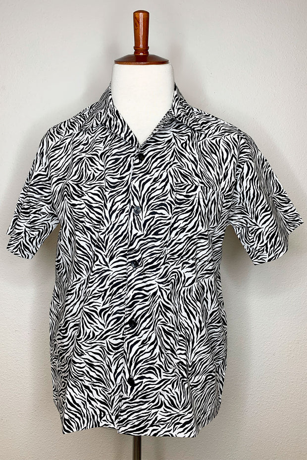 Zebra Print Button Down