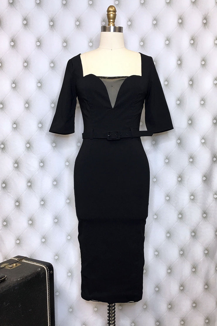 Zelda Black Wiggle Dress