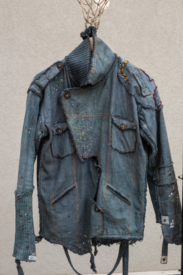 Heorwulf Denim Jacket Ash Blue