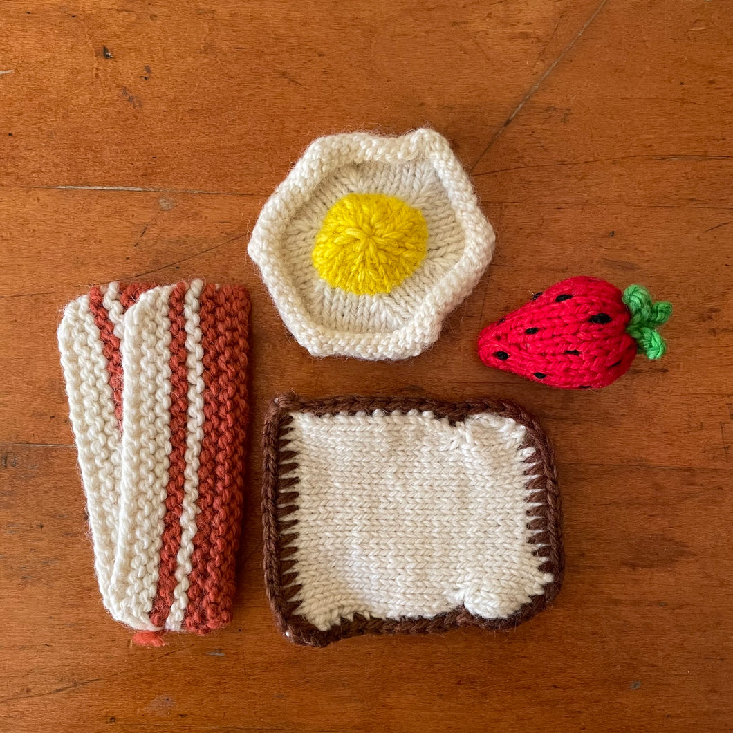 KNITTED BACON, TOAST AND SET