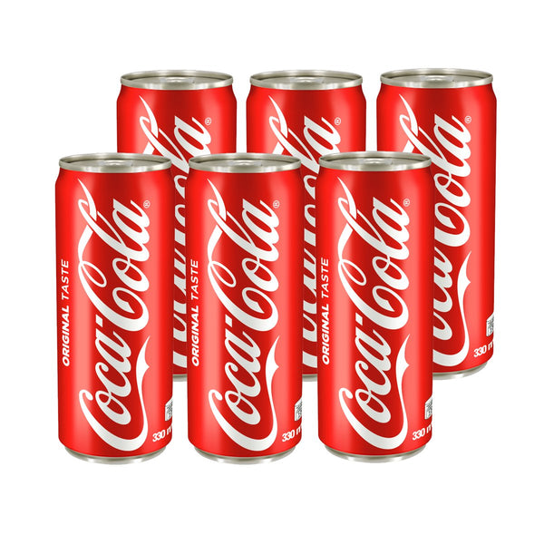 Coke Regular 330ml Can (Pack of 6)