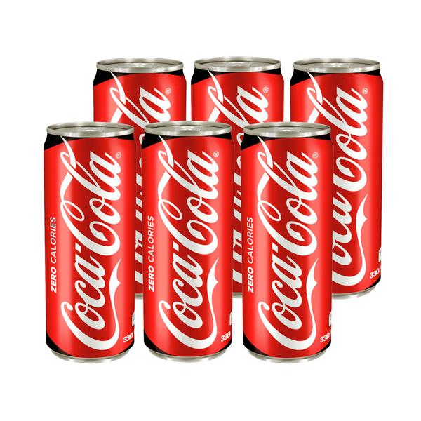 Coke Zero 330ml Can (Pack of 6)