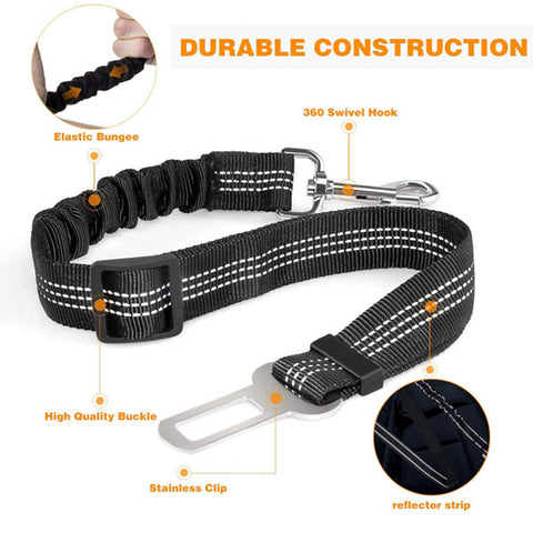 Adjustable Bungee Car Safety Belt by MYHARNESS™
