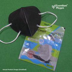 N95 Face Mask Black, Set of 5