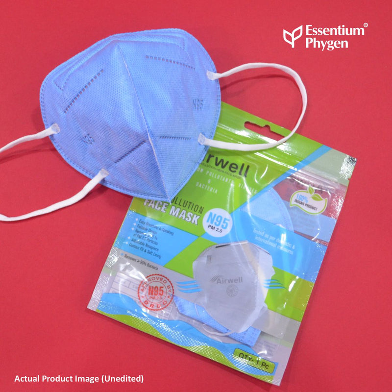 N95 Face Mask Blue, Set of 5