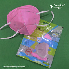 N95 Face Mask Pink, Set of 5