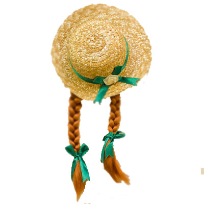Anne Wearable Straw Hat with Braids