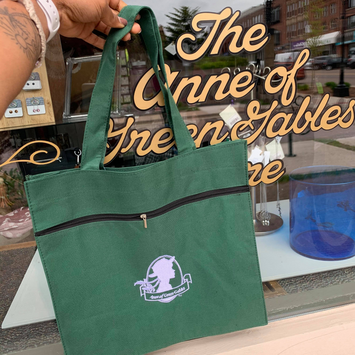 Anne of Green Gables Siloutte Green Tote.