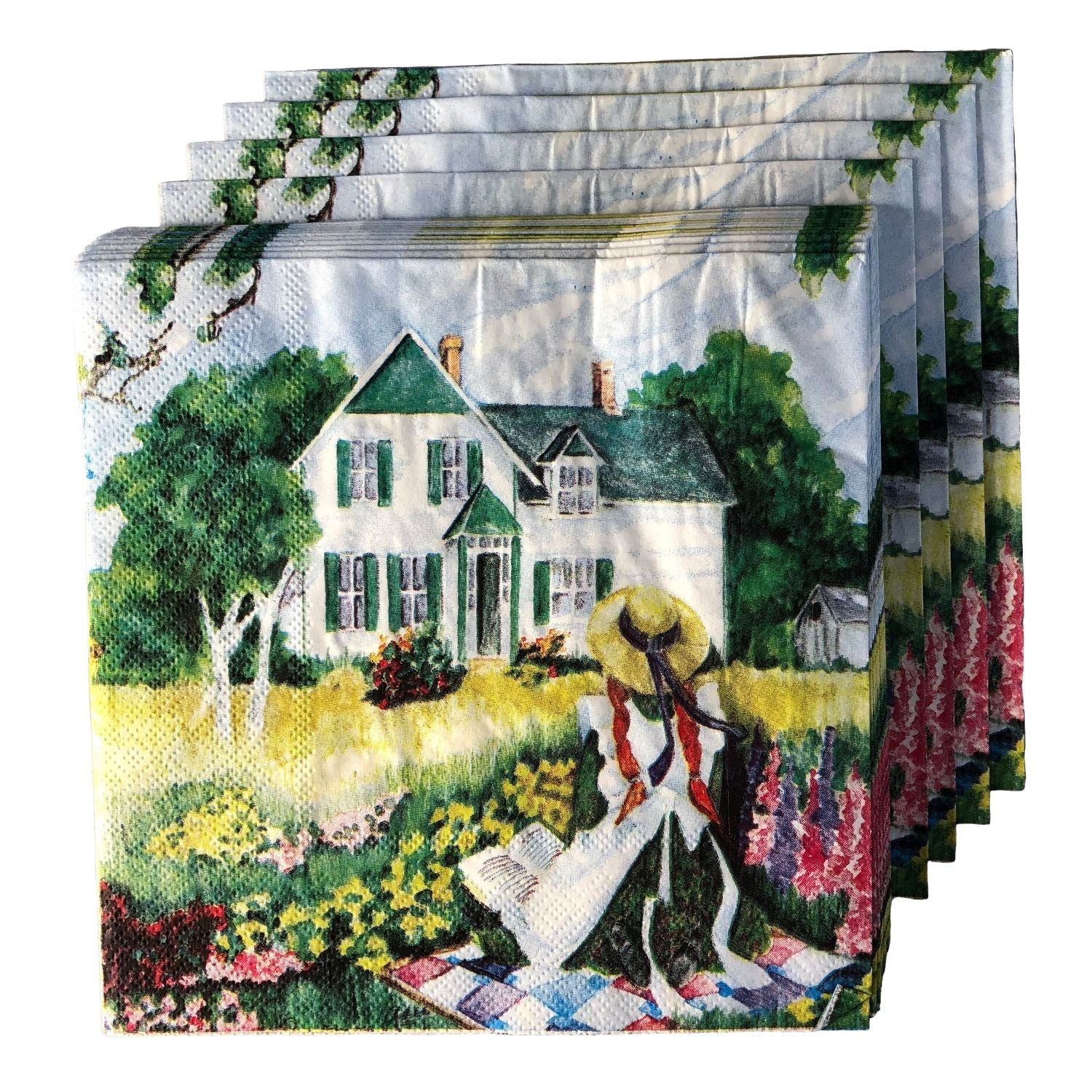Anne on quilt dinner napkin
