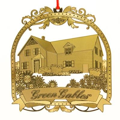 Green Gables Brass Ornament