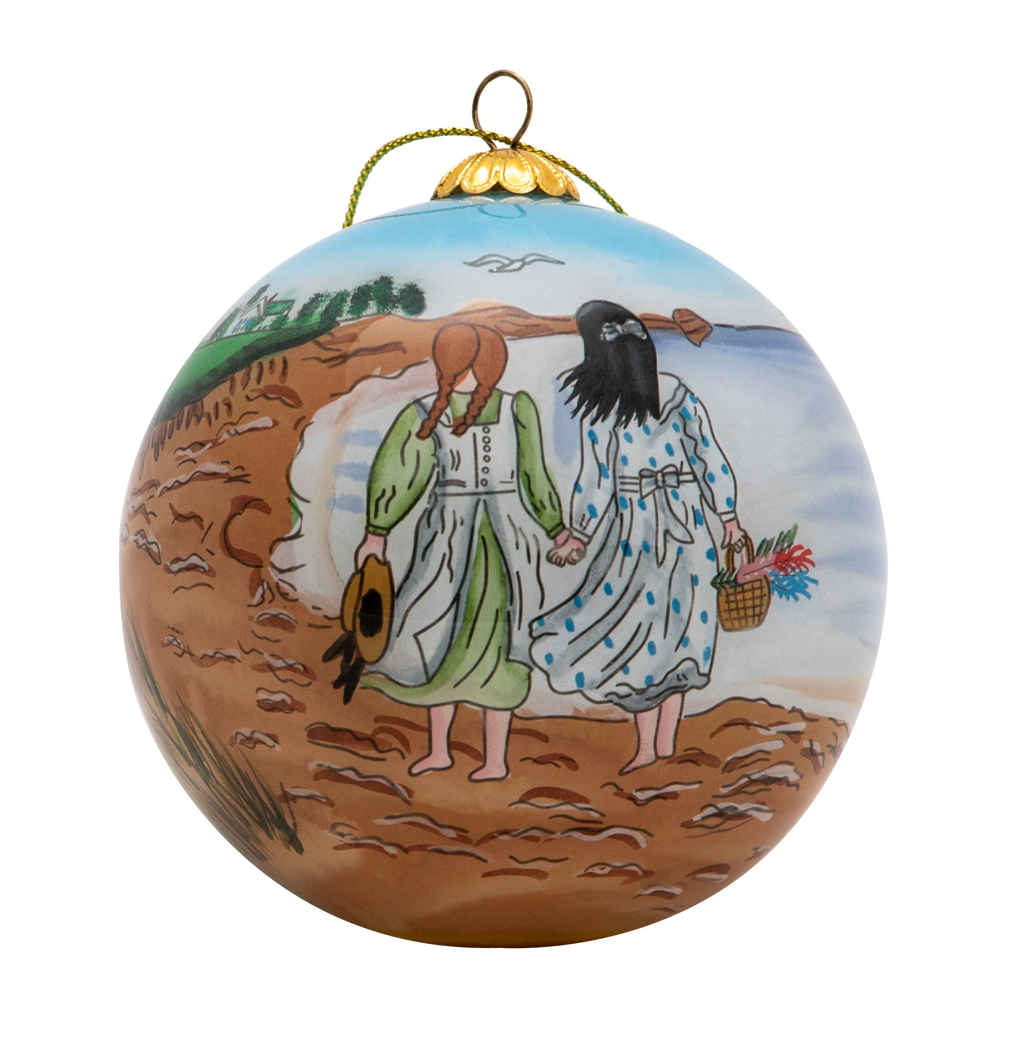 "Kindred Spirits 3"" Glass Hanging Ornament"