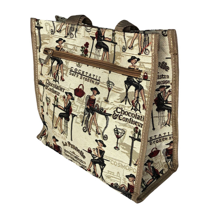 Paris Girl Tapestry Shopper