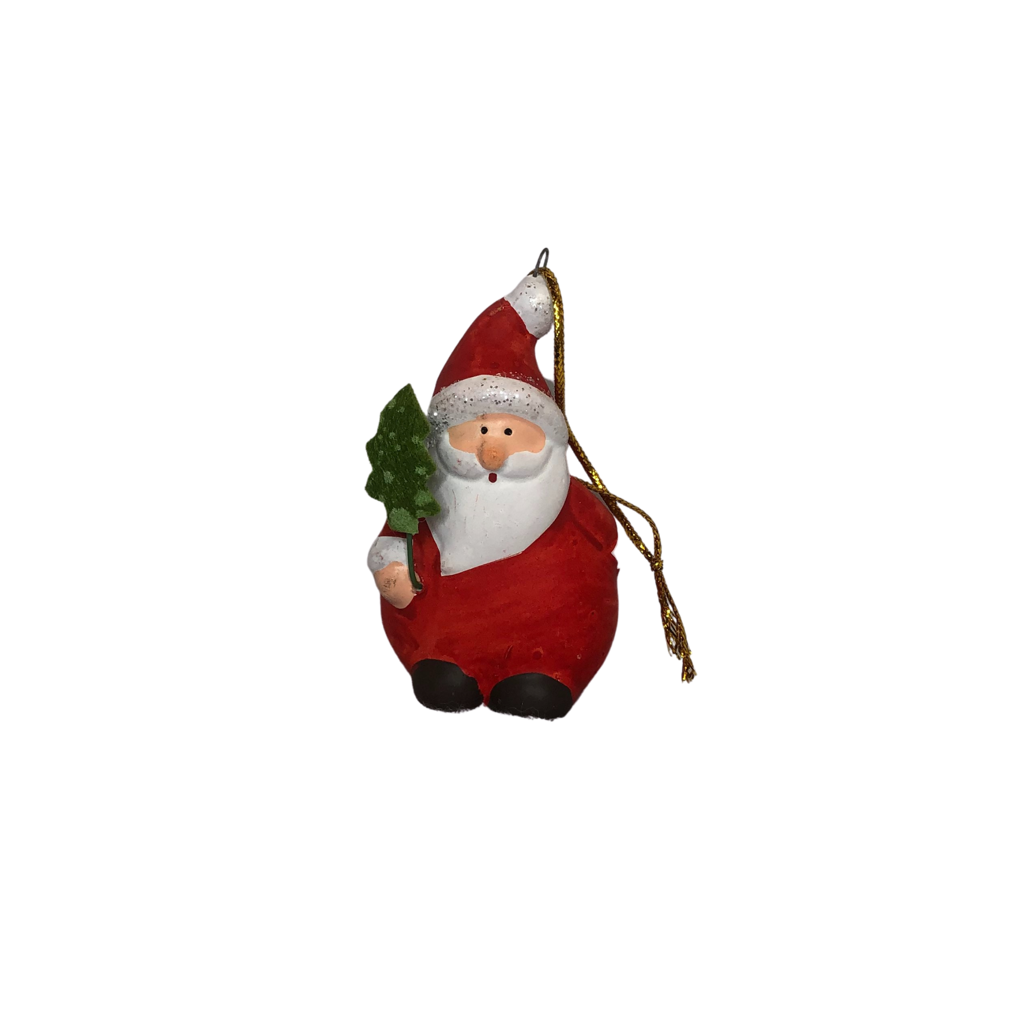 Hanging Santa Ornament