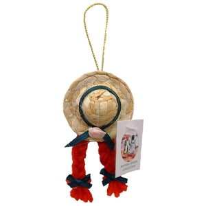 "3"" Hanging Straw Hat"
