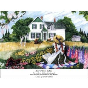 'Anne on the Quilt' by Dale McNevin Print Anne Of Green Gables