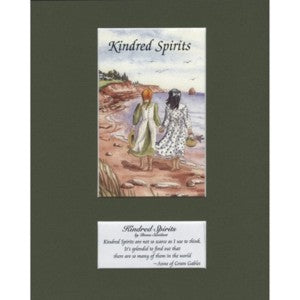 'Kindred Spirits' 8x10 by Diana Savidant Matted Print Anne Of Green Gables