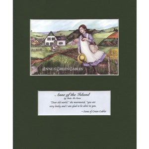 """Anne of the Island"" 8x10 Matted Print Anne of green gables"