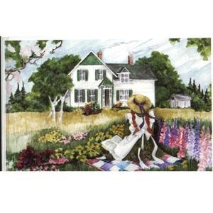 """Anne on the Quilt"" Note Pad Anne of green gables"