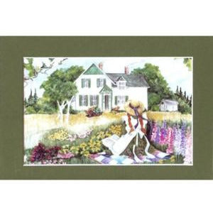 5x7 Anne on the Quilt Print Anne Of Green Gables