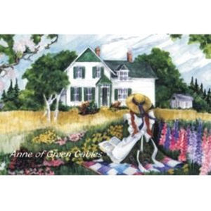 Anne on the Quilt Metal Magnet Anne of Green Gables
