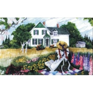 Anne on the Quilt Postcard Anne of Green Gables