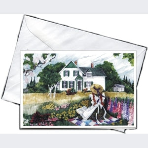 Anne on the Quilt Notecard Anne of Green Gables