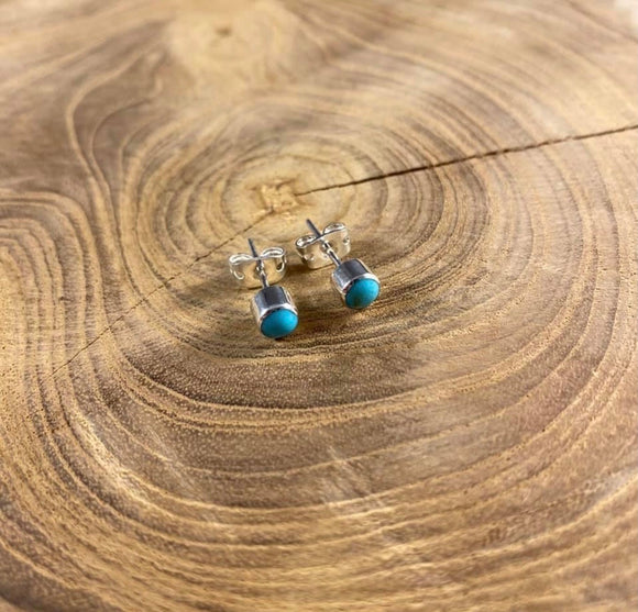 Sterling Silver Authentic Turquoise Studs
