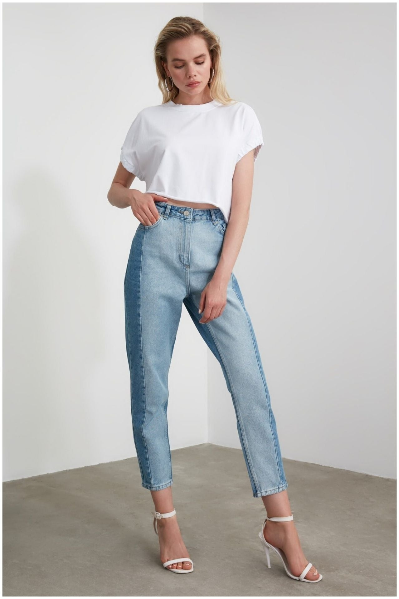 Pantalon vintage duo denim