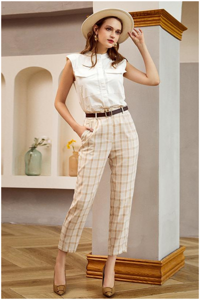 Pantalon a Carreau Vintage