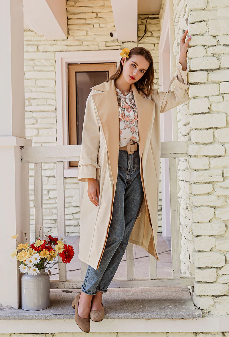 Trench vintage beige automnale