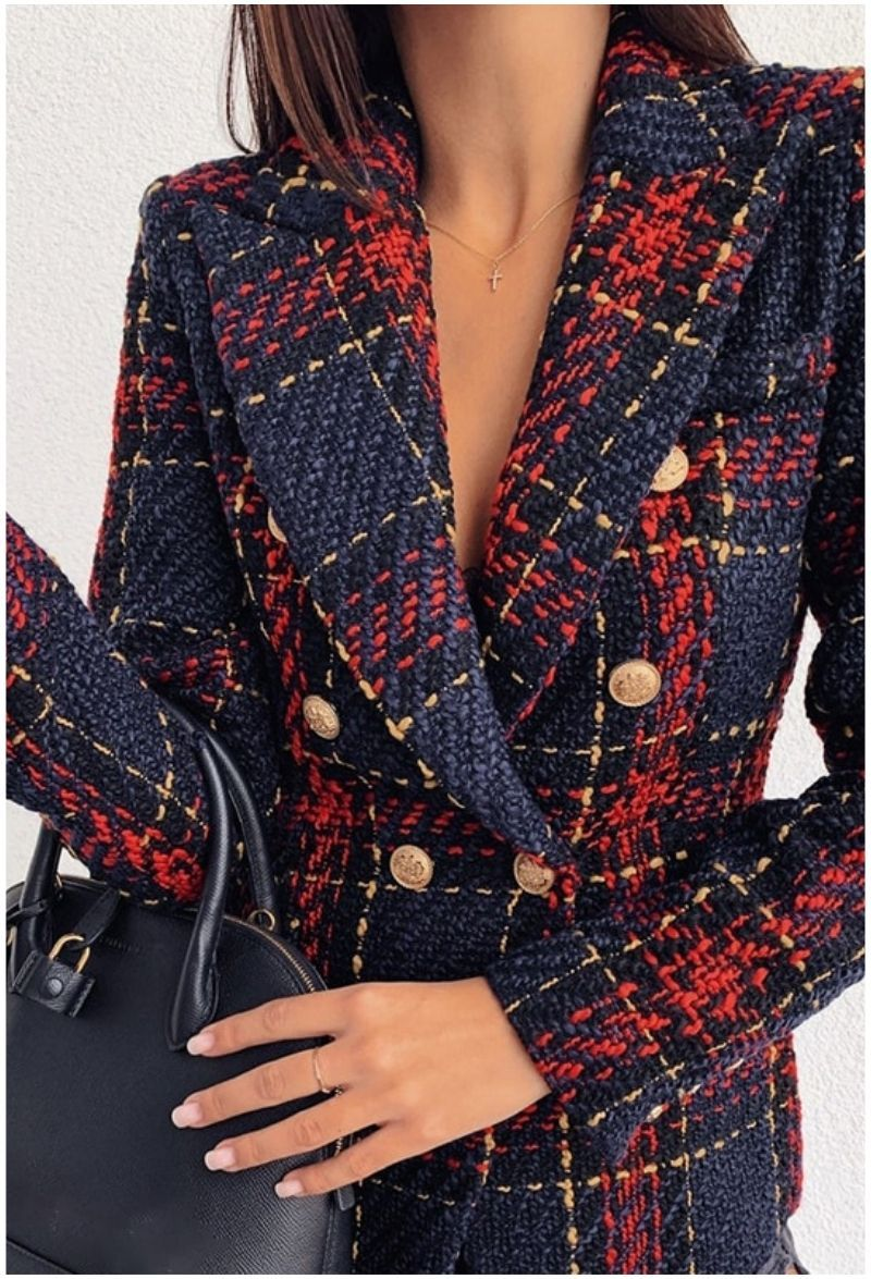 Blazer vintage plaid