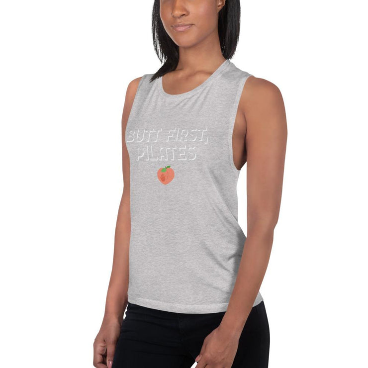 Butt first Ladies' Muscle Tank - Pilateskatt