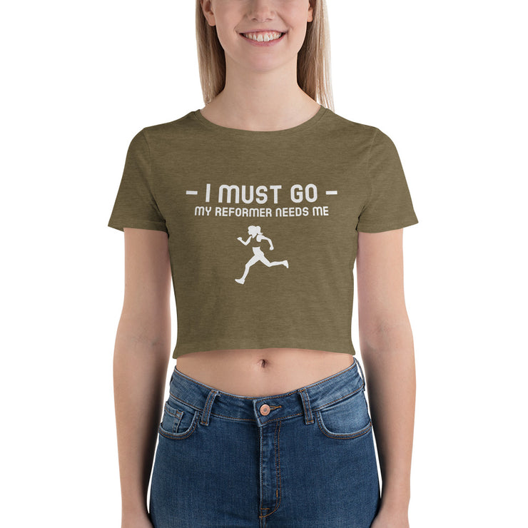I must go Women's Crop Tee - Pilateskatt