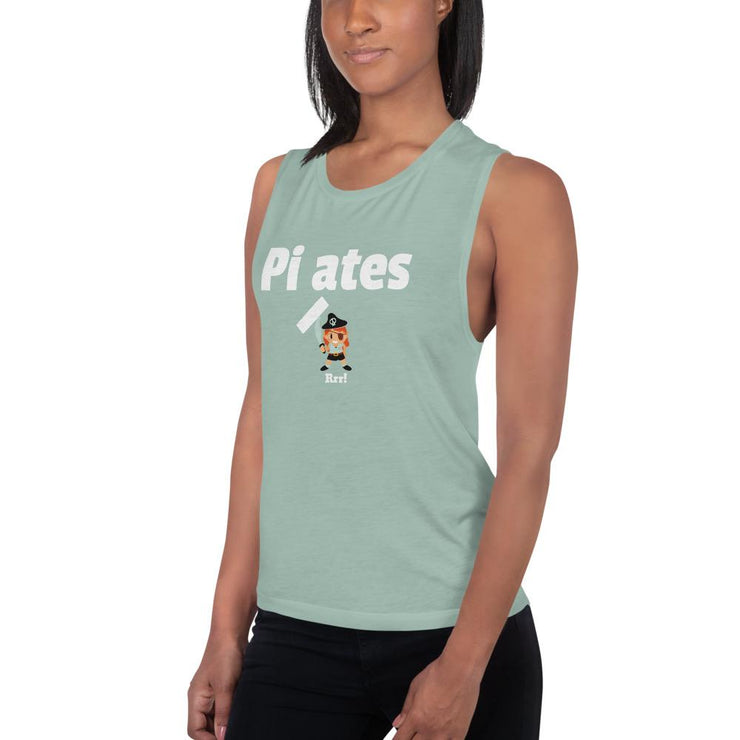 Pirates, no Pilates Ladies' Muscle Tank - Pilateskatt
