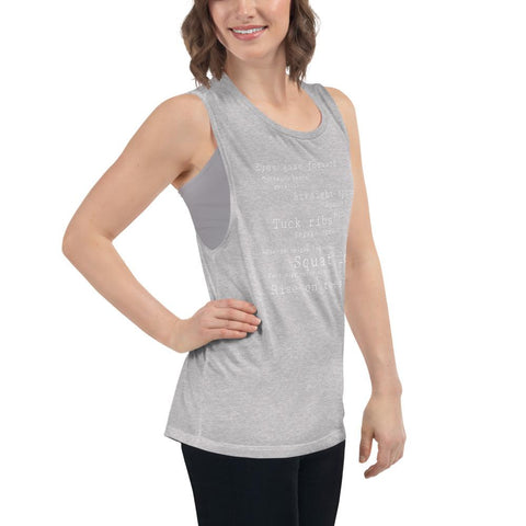 Pilates teacher Ladies' Muscle Tank - Pilateskatt