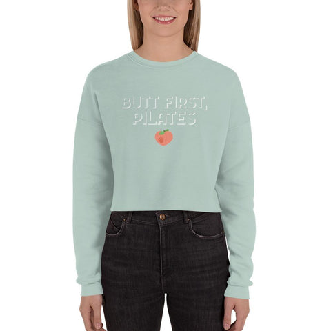 Butt first Crop Sweatshirt - Pilateskatt