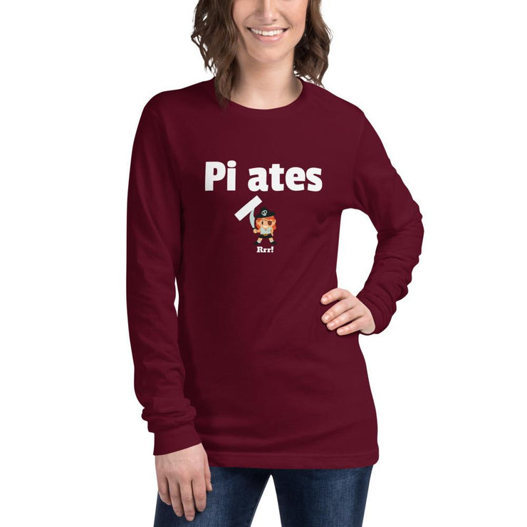 Pirates, no Pilates Unisex Long Sleeve Tee - Pilateskatt