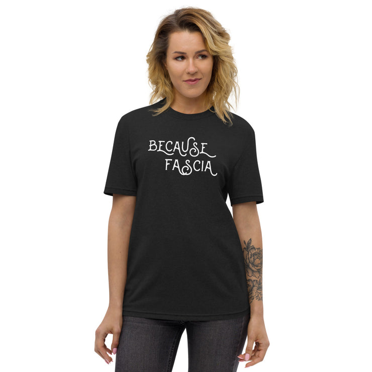 Because Fascia Unisex recycled t-shirt