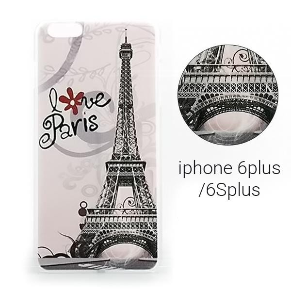 "Backcase θήκη με σχέδιο ""Love Paris"" για iPhone 6 Plus/6S Plus - 2268 GL-24381"
