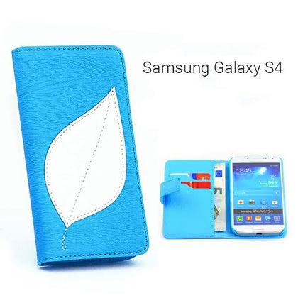 Αναδιπλούμενη Θήκη πορτοφόλι (Leaf) για Samsung Galaxy S4 - Leaf Flip Wallet Cover Case for Samsung S4 GL-3360 - afasia.gr